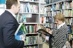 Министр природных ресурсов и экологии России Сергей Ефимович Донской в Российской государственной библиотеке для молодежи